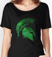 Galaxy Michigan State University Women's Relaxed Fit T-Shirt