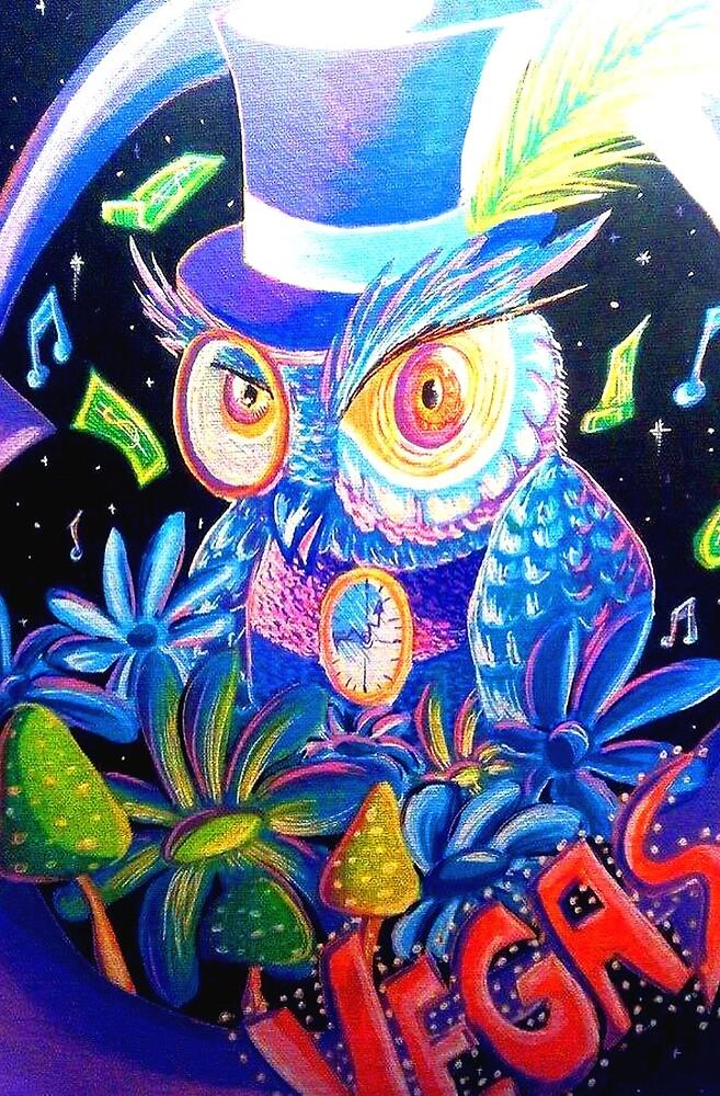Sir Owl Art by CindyDeroeuxArt