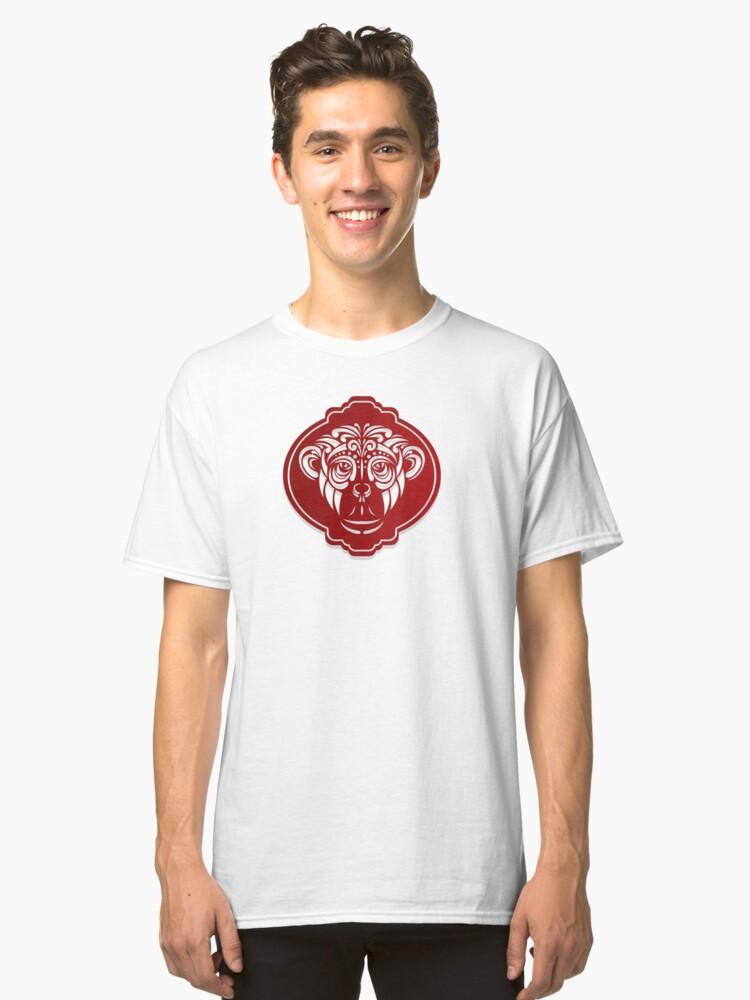 totem monkey Classic T-Shirt Front