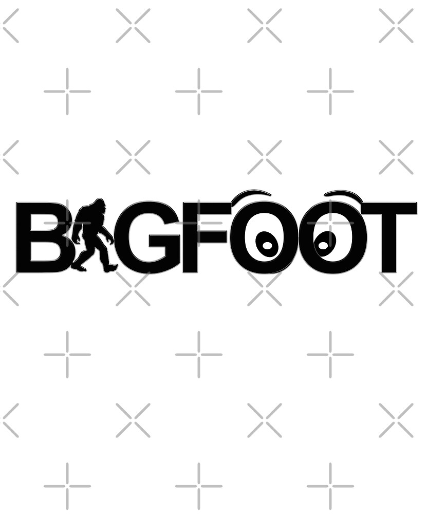 Funny Bigfoot Sasquatch with Cartoon Eyes for Adults & Children  by lmaoshop