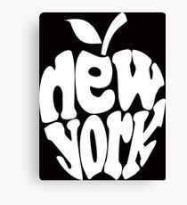 Big Apple New York, white Canvas Print