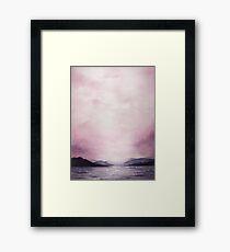 Dusk - Watercolor Framed Print