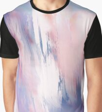 Abstract Painting Purple Blue Peach Salmon Graphic T-Shirt