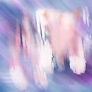 Abstract Painting Purple Blue Peach Salmon by Myda Muckala