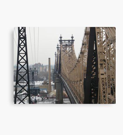 Queensboro Bridge, As Seen from Roosevelt Island Tram, New York Canvas Print