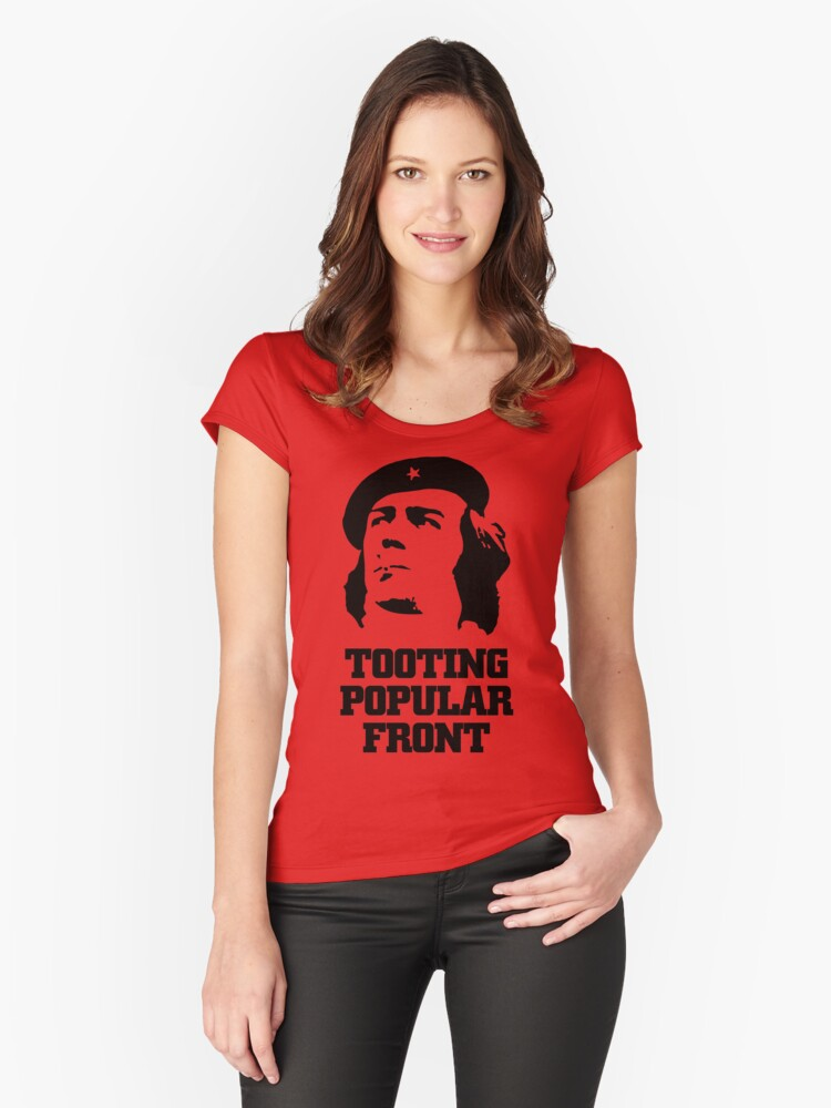 NDVH Tooting Popular Front Women's Fitted Scoop T-Shirt Front