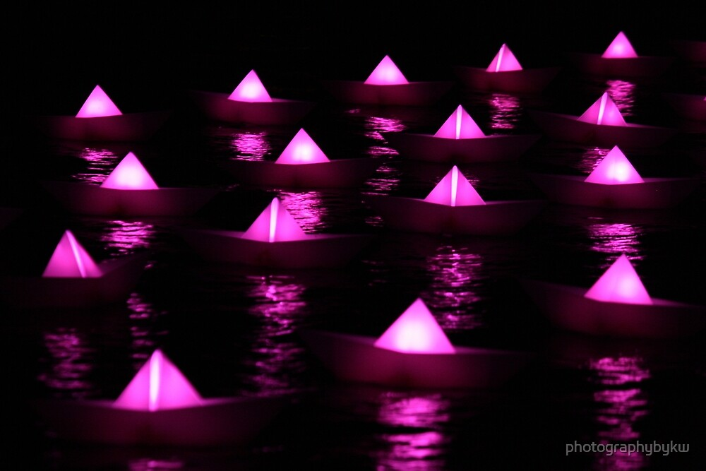 Pink Paper boats  by photographybykw