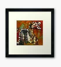 Good Luck Dragon Framed Print