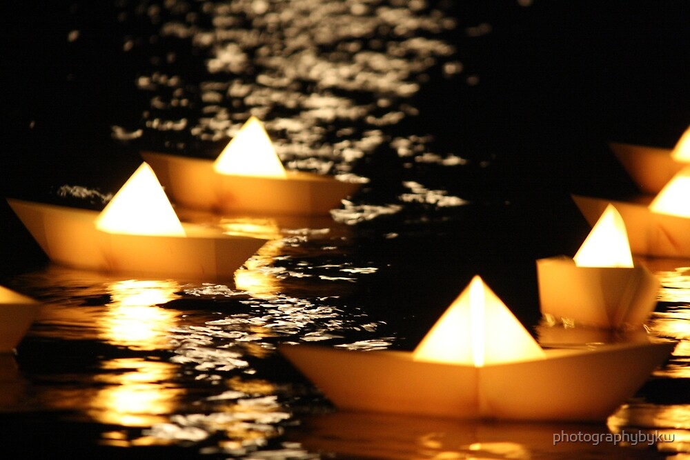 Yellow Paper Boats  by photographybykw
