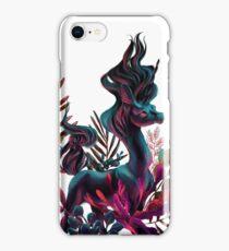 Black Unicorn with White Background iPhone Case/Skin