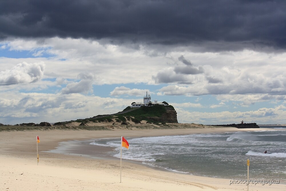 Nobby Beach Lighthouse Newcastle  by photographybykw