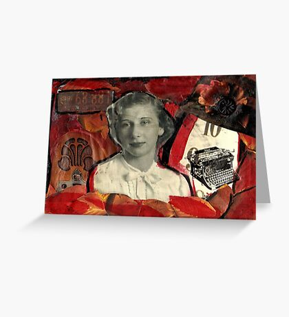 The Case of  the Curious Collage-A Nancy Drew Tribute. Greeting Card