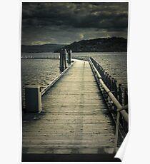 Moonlit boat dock on Coeur D' Alene Lake Poster