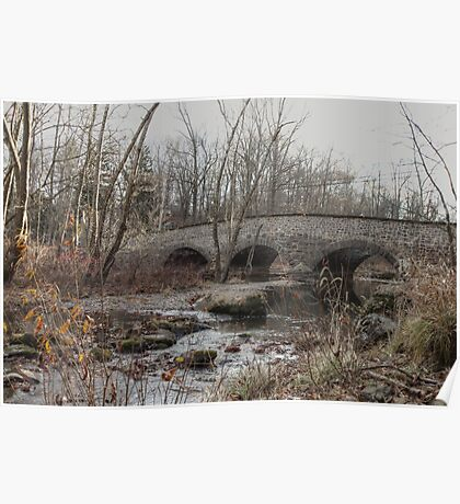 The Stone Arch Bridge Over The Unami Creek at Sumneytown PA USA Poster