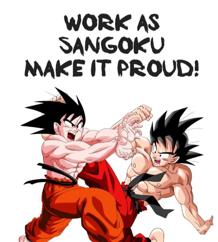 Work / Fight Goku T-Shirt by Berkaneismael