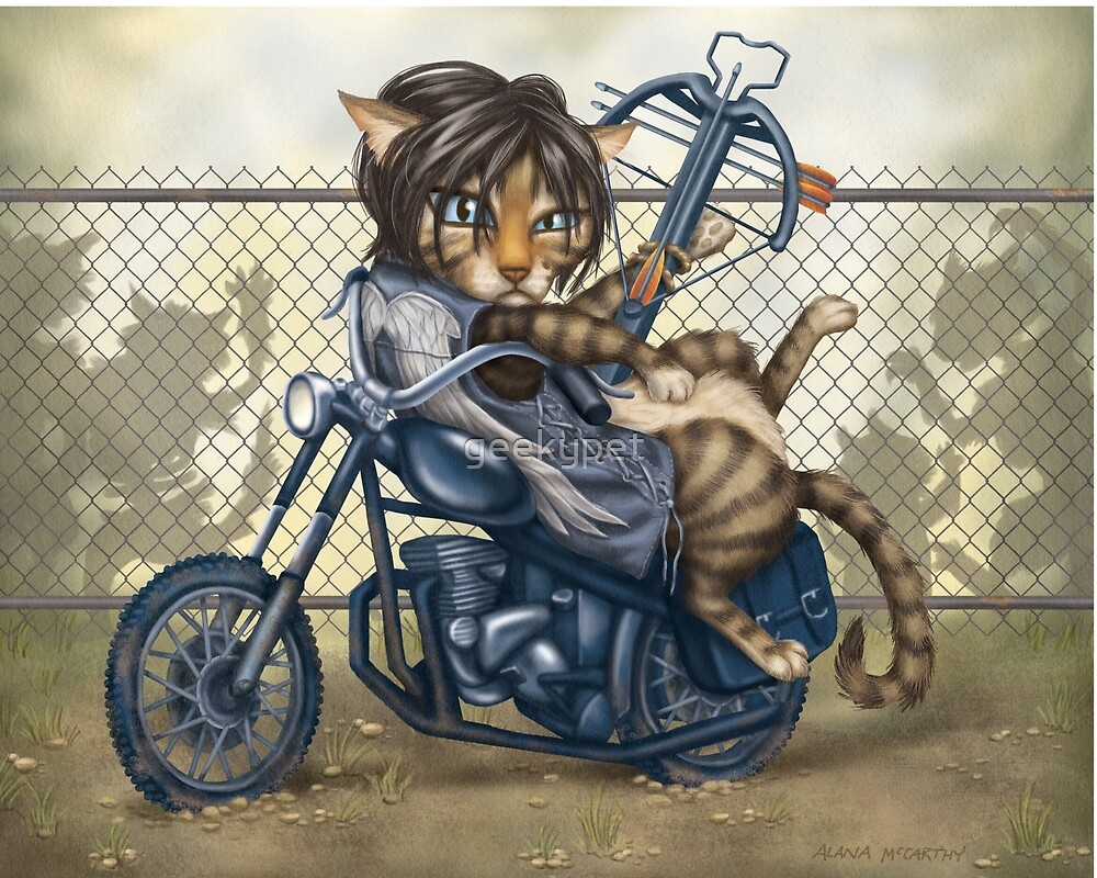 Daryl Dixon Cat from The Walking Dead by geekypet