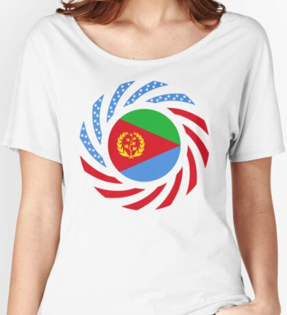 Eritrean American Multinational Patriot Flag Series Relaxed Fit T-Shirt