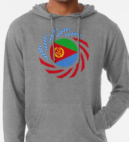 Eritrean American Multinational Patriot Flag Series Lightweight Hoodie