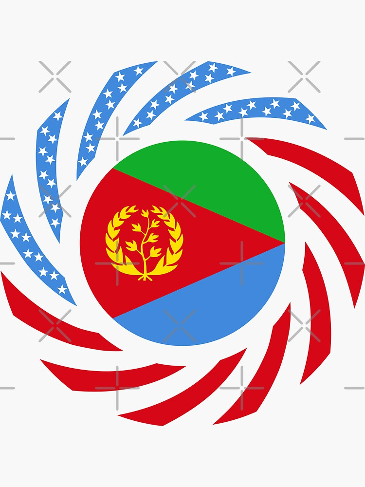 Eritrean American Multinational Patriot Flag Series by carbonfibreme