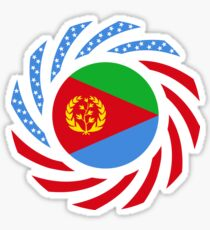 Eritrean American Multinational Patriot Flag Series Sticker