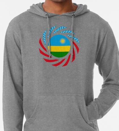 Rwandan American Multinational Patriot Flag Series Lightweight Hoodie