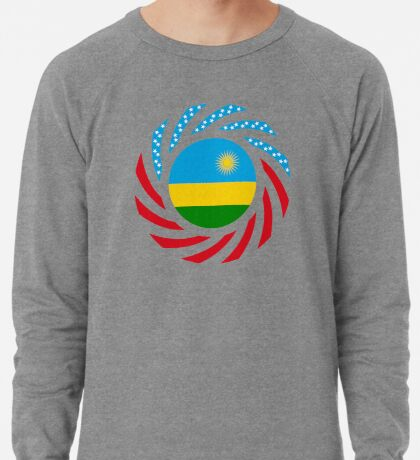 Rwandan American Multinational Patriot Flag Series Lightweight Sweatshirt