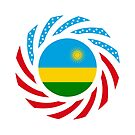 Rwandan American Multinational Patriot Flag Series by Carbon-Fibre Media