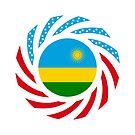 Rwandan American Multinational Patriot Flag Series by Carbon-Fibre Media