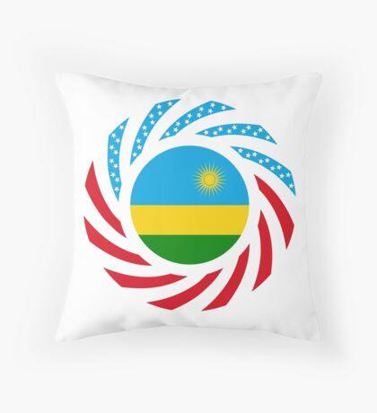 Rwandan American Multinational Patriot Flag Series Throw Pillow