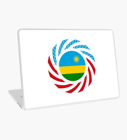 Rwandan American Multinational Patriot Flag Series Laptop Skin