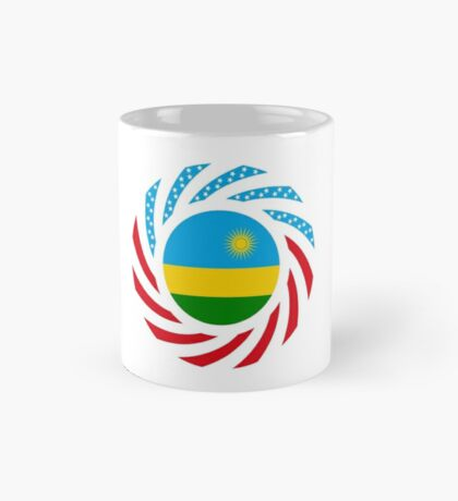 Rwandan American Multinational Patriot Flag Series Mug