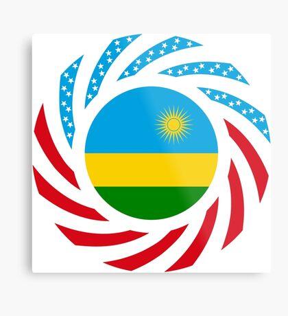 Rwandan American Multinational Patriot Flag Series Metal Print