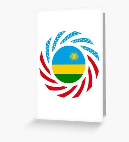 Rwandan American Multinational Patriot Flag Series Greeting Card