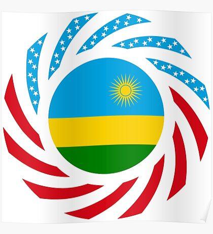 Rwandan American Multinational Patriot Flag Series Poster