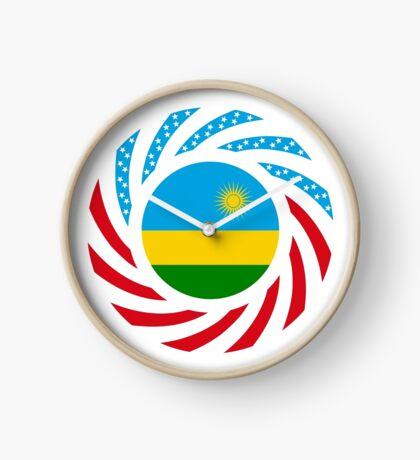 Rwandan American Multinational Patriot Flag Series Clock