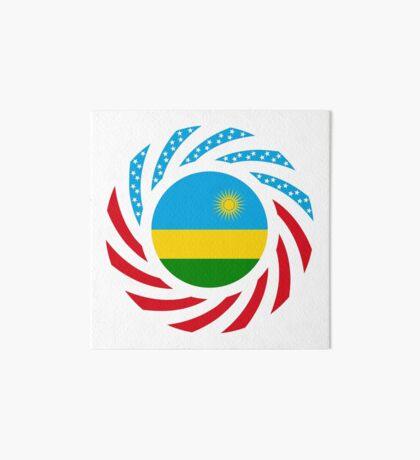 Rwandan American Multinational Patriot Flag Series Art Board Print