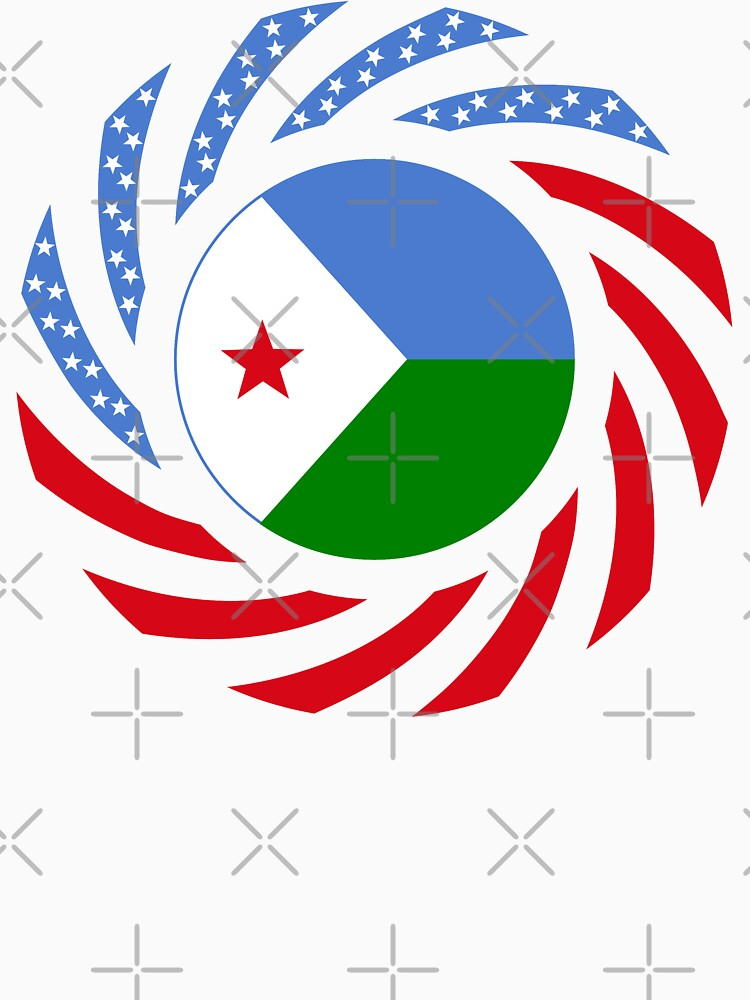 Djibouti American Multinational Patriot Flag Series by carbonfibreme