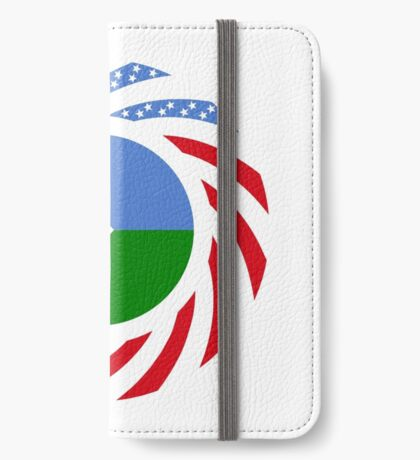 Djibouti American Multinational Patriot Flag Series iPhone Wallet