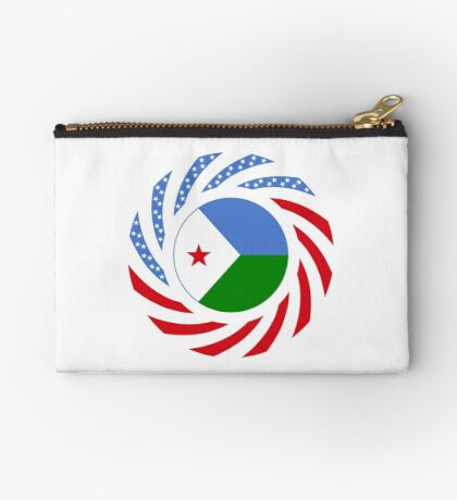 Djibouti American Multinational Patriot Flag Series Zipper Pouch