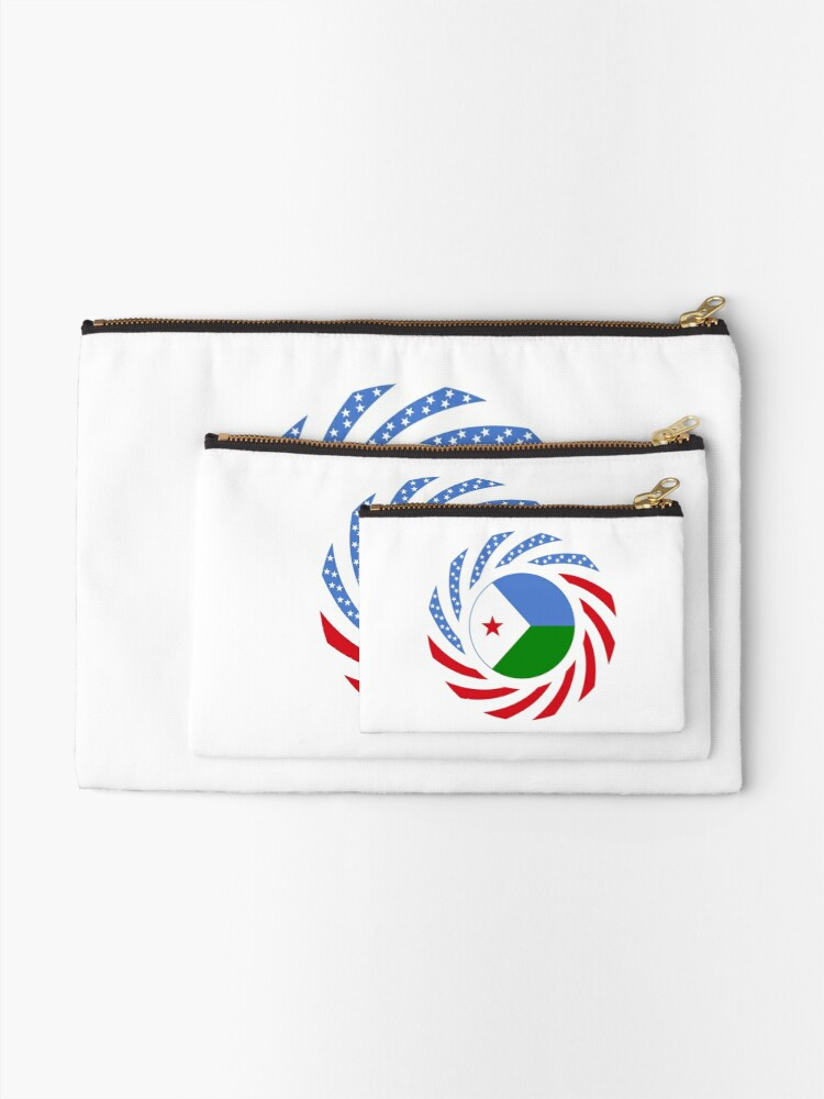 Alternate view of Djibouti American Multinational Patriot Flag Series Zipper Pouch