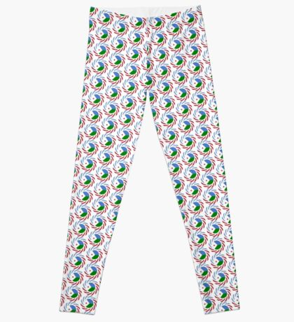 Djibouti American Multinational Patriot Flag Series Leggings