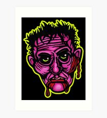 Pink Zombie - Die Cut Version Art Print