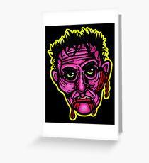 Pink Zombie - Die Cut Version Greeting Card