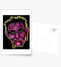 Pink Zombie - Die Cut Version Postcards