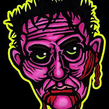 Pink Zombie - Die Cut Version by redfeatherone