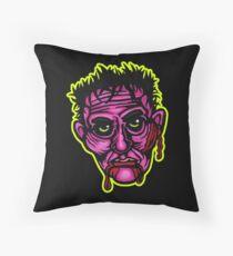 Pink Zombie - Die Cut Version Throw Pillow