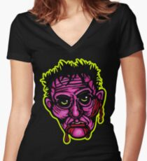 Pink Zombie - Die Cut Version Fitted V-Neck T-Shirt