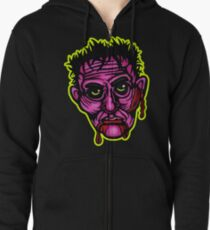 Pink Zombie - Die Cut Version Zipped Hoodie