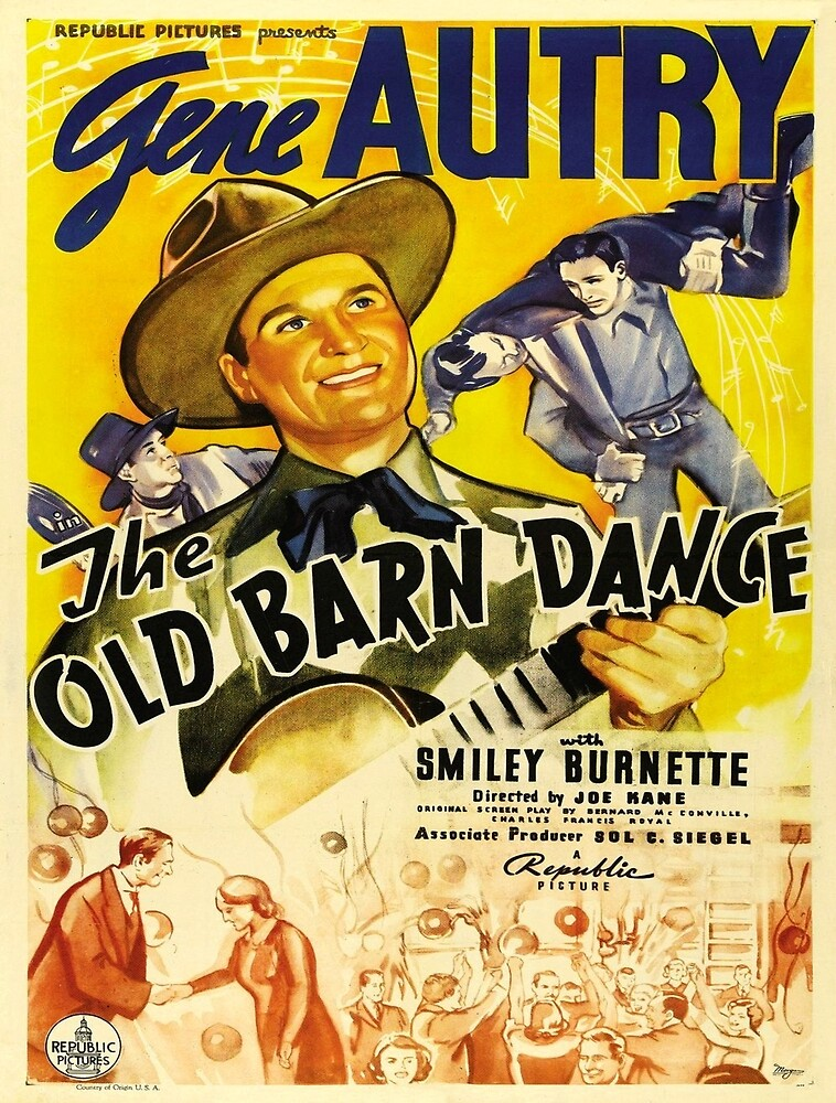 Vintage poster - The Old Barn Dance by mosfunky