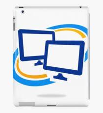 computer-in-circle iPad Case/Skin